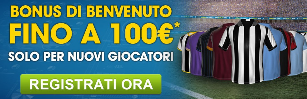 Bonus William Hill Fino a 100€